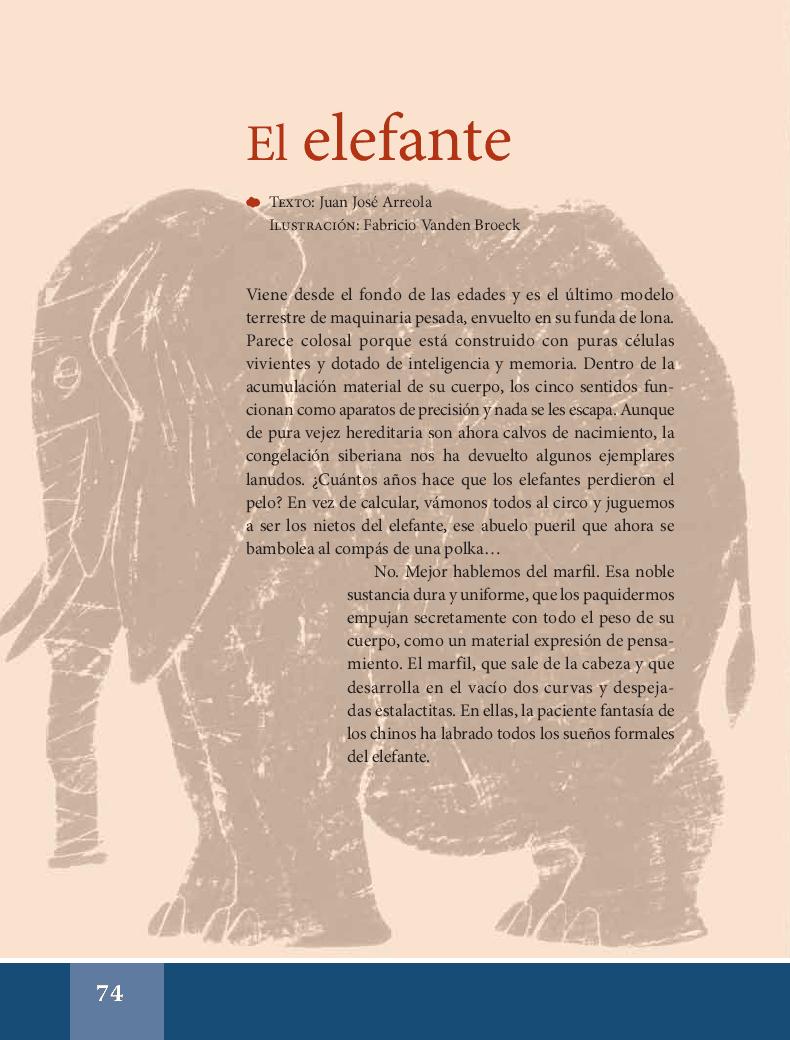 El elefante - Español Lecturas 6to 2014-2015