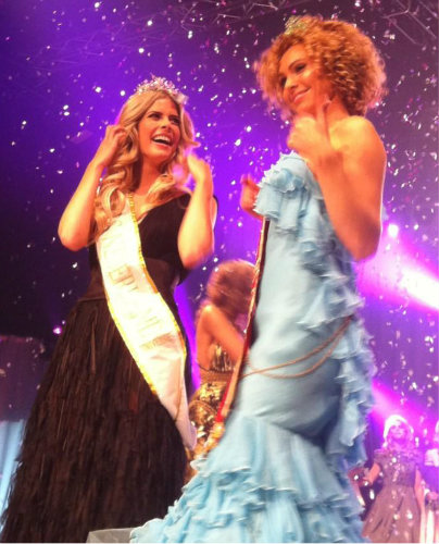 Miss Netherlands Nederland 2012 2013 winner Stefanie Tency and Jacqueline Steenbeek