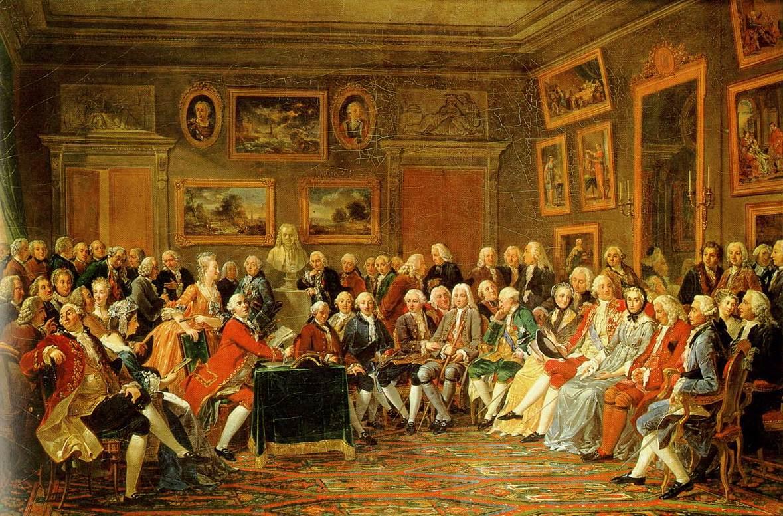 in academies hielden mensen zich vooral bezig met natuurwetenschappen taal literatuur en geschiedenis genootschappen zijn groepen die zich met hetzelfde
