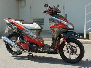 silahkan lihat gambar Modifikasi Motor Honda Vario Techno dibawah ini