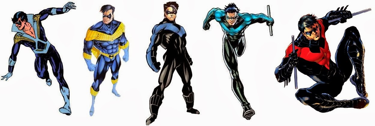 The Comic Book Hero Nightwing Costume Evolution