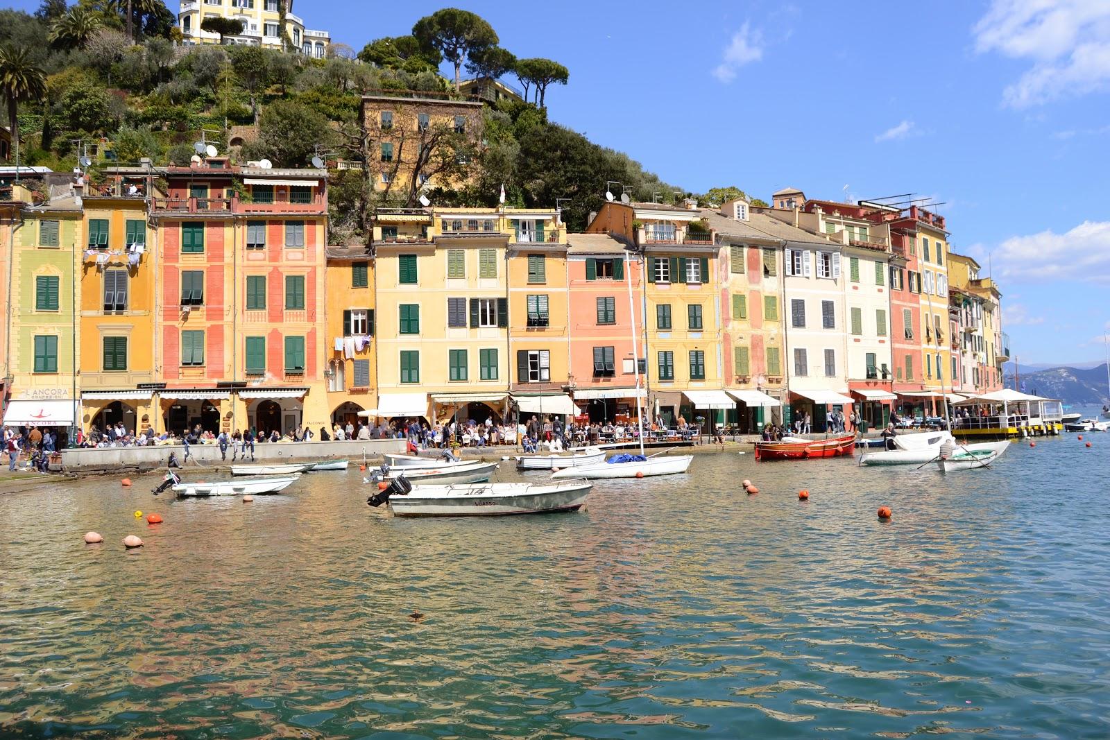 Pastel color houses @ Portofino