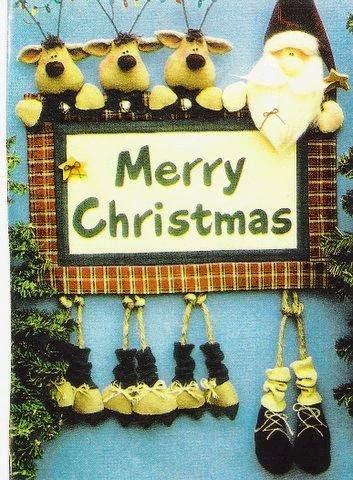 Plaquinha para a decoração de natal com moldes