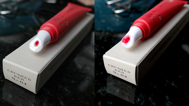burberry first kiss fresh gloss lip balm crushed red swatch review