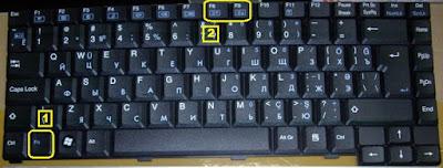 mengatur cahaya layar laptop
