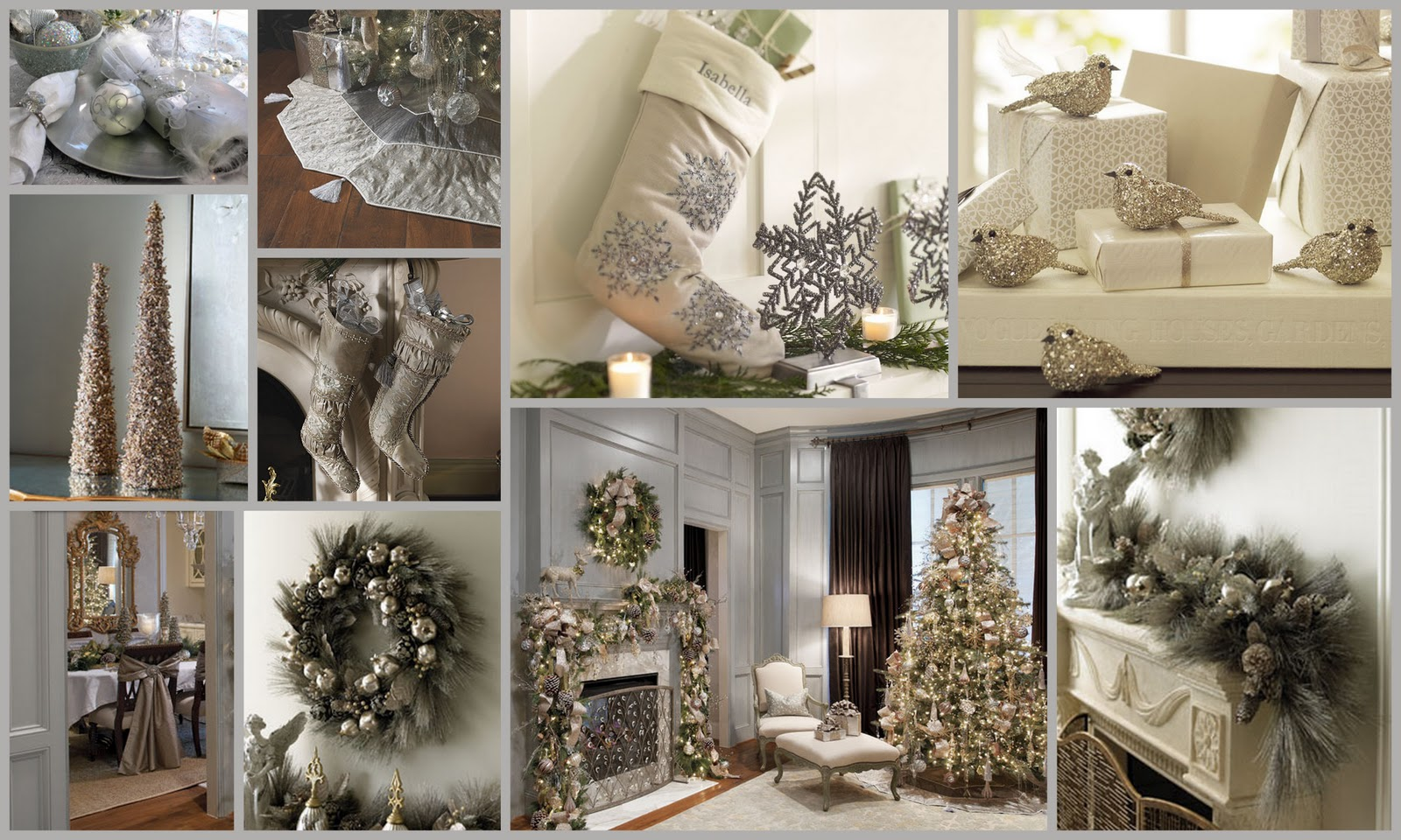 Christmas Decoration Design Pictures : Metro luxe events candice vallone silver christmas