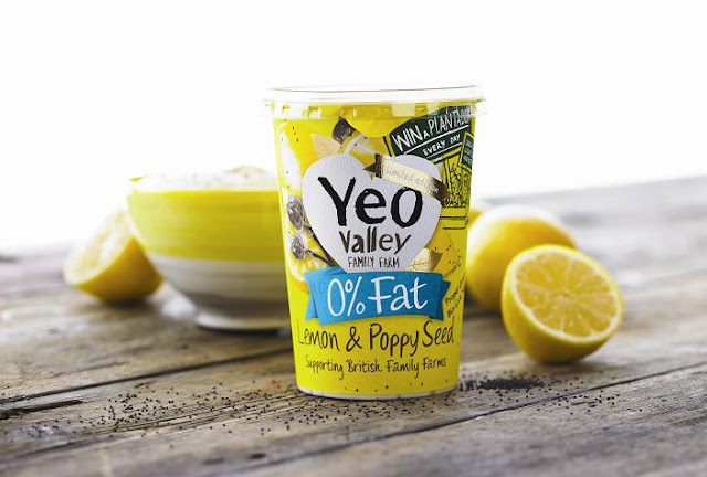 Yeo Valley Lemon and Poppy Seed 0% Fat Yogurt