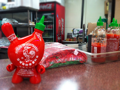 Sketracha Hot Chili Sauce Custom 8 Inch Dunny by Sket One