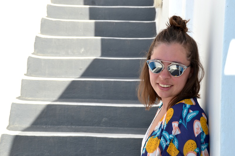 collection capsule Kimono Pimkie x Cocorrina, l'usine à lunettes, sandales Holden like Isabel Marant, jean boyfriend