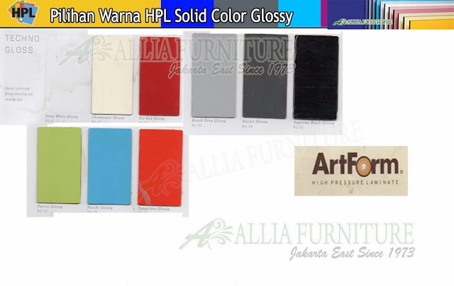 004.HPL solid color warna Art form Gloss