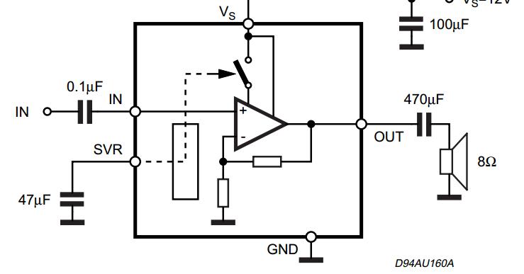 circuit wiring solution  sound 2w mono amplifier tda7299
