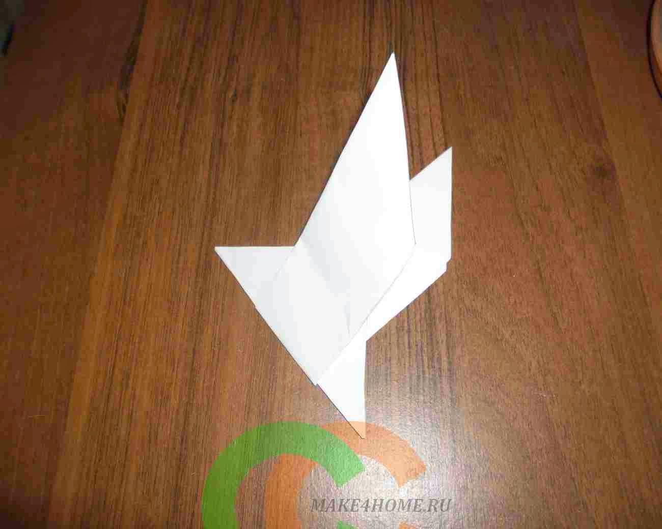 Голубь из бумаги. Делаем с ребенком бумажного голубя. Шаблон 56