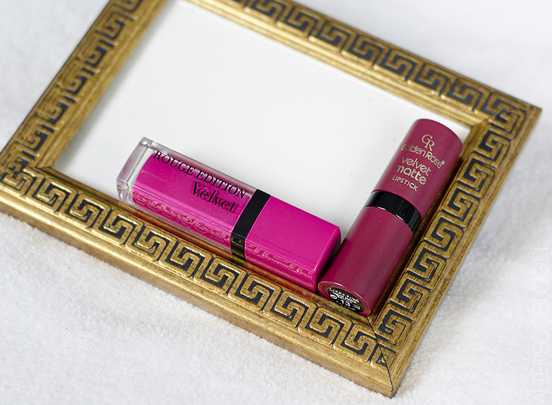 Zamienniki klasyki | Bourjois Rouge Edition Velvet 06 vs Velvet Matte Golden Rose 13