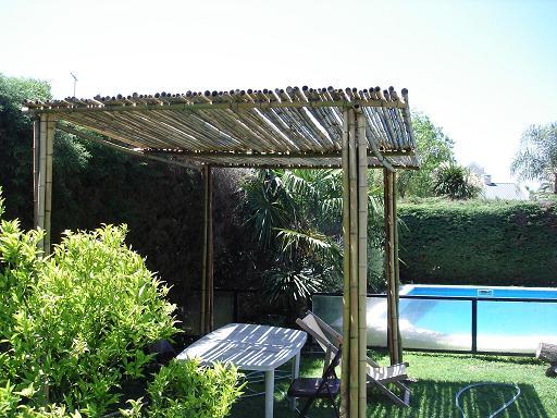 Complementos casa y jard n p rgolas de bamb - Pergolas de bambu ...