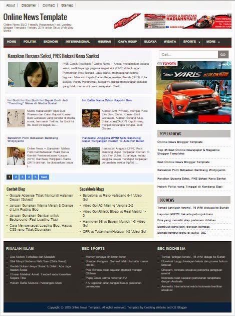 Online News - Template SEO Responsive untuk Blog Berita