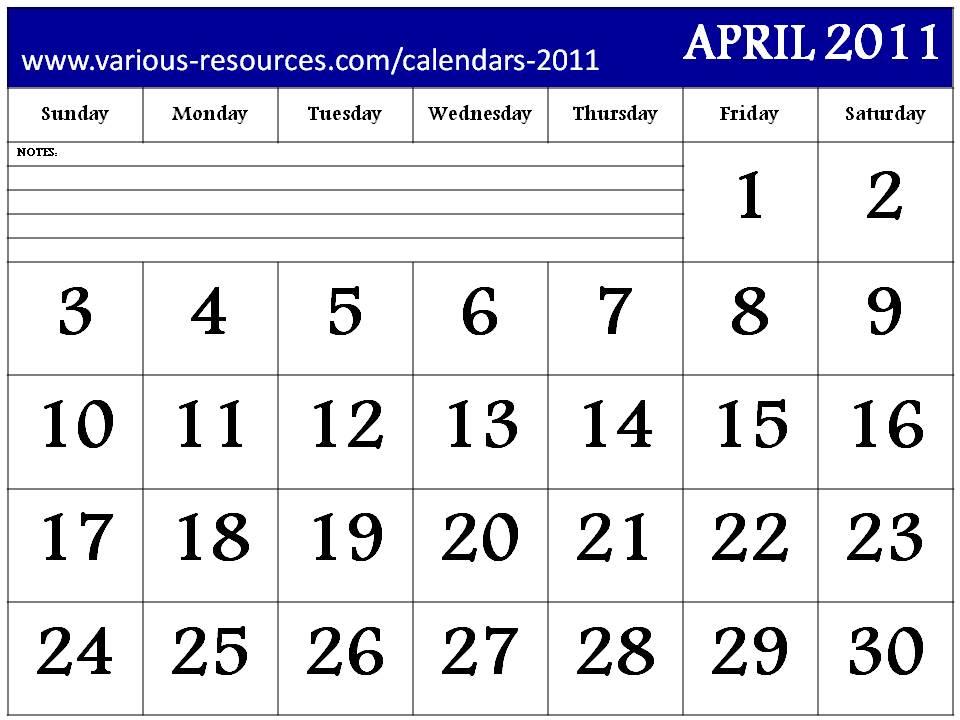 ... Calendars 2011, visit http://www.various-resources.com/calendars-2011