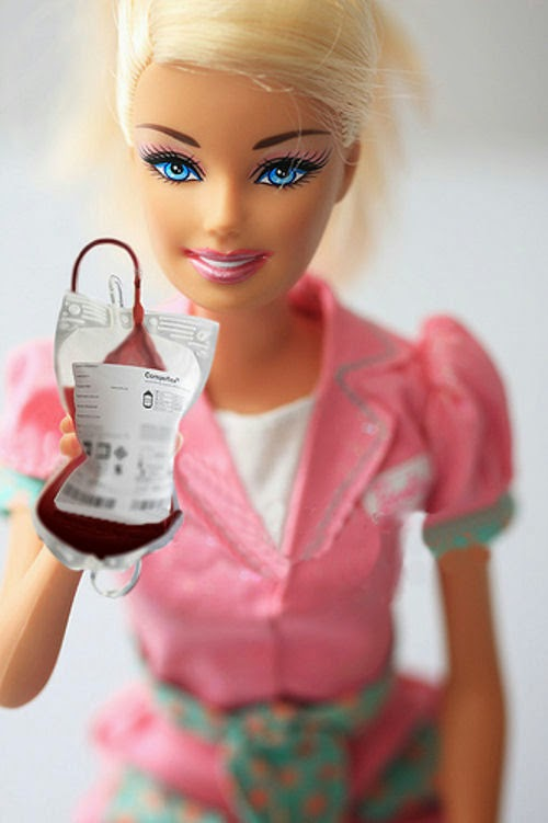 Keep Calm And Love Science Donate Blood With Barbie