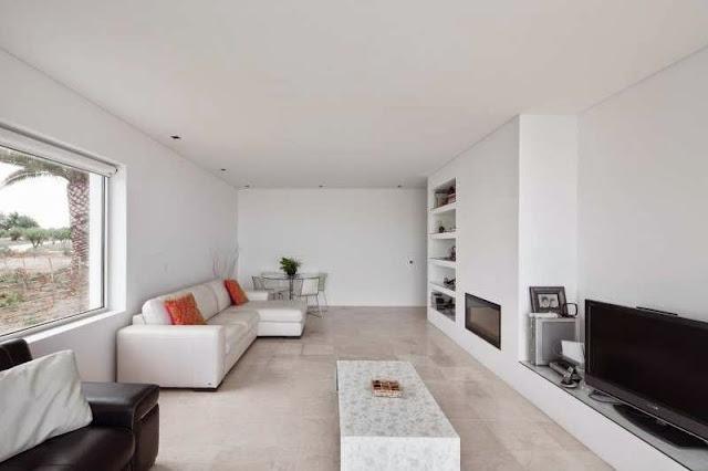 living room design Modern House with Pool in Tavira