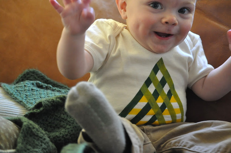 Baby Recycle Triangle Organic Tee by Jessalin Beutler