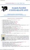 Coomaraswamy A. Kendish - bibliografia