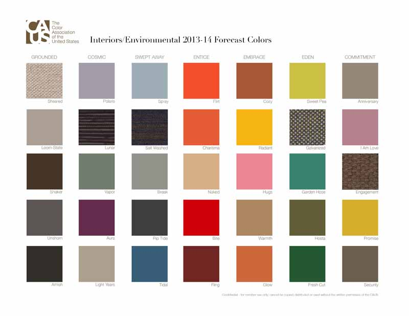 Color forecasting chart for 2013-2014.