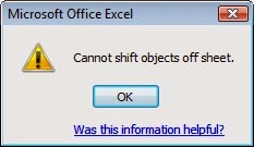 Cannot shift objects off sheet.