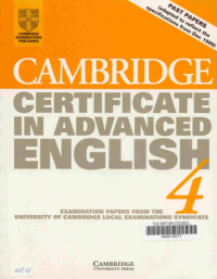 Cambridge Certificate In Advanced English 4