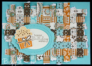 Create a Cupcake Card using Spice Cake Papers from Stampin' Up!