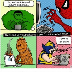Imagen de las razones por las que los superhéroes no están constantemente online