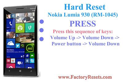 hard Reset Nokia  930