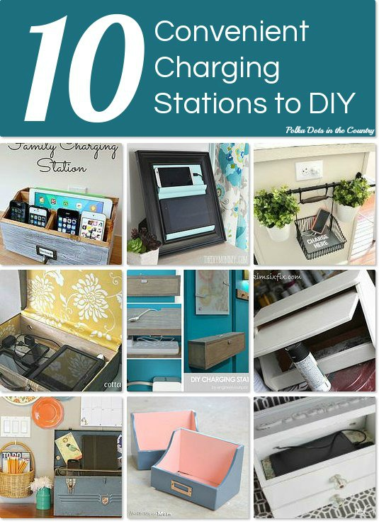 Family Charging Station polka dots in the country: 10 diy charging stations with hometalk