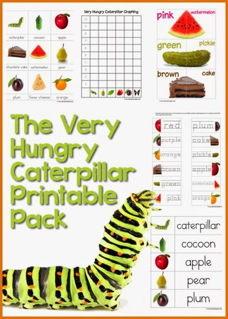 Eloquent image within very hungry caterpillar craft printable