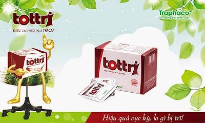Thuốc Tottri hỗ trợ điều trị bệnh trĩ hiệu quả