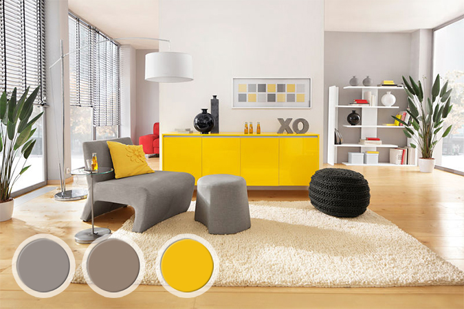Mars 2013 for Deco salon gris et jaune
