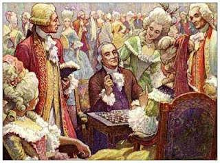 Benjamin Franklin à la Cour du Roi Louis XVI - Illustration d'Elmer Boyd Smith