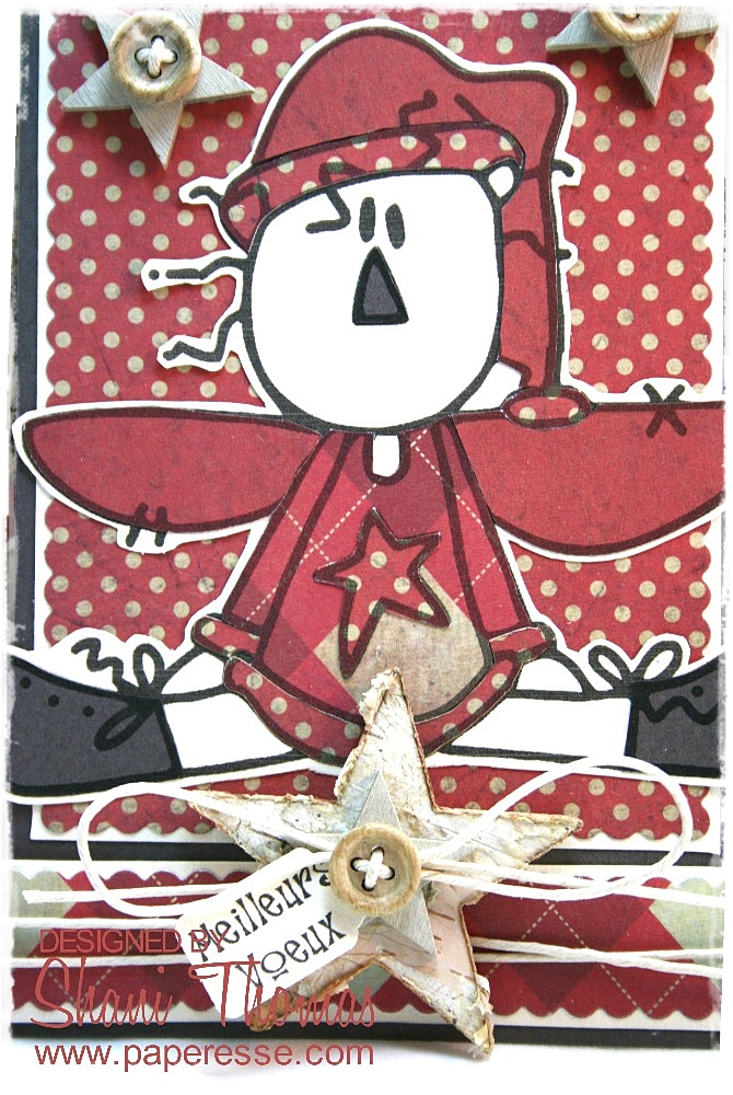 Paperesse: Primitive Angel digital stamp Christmas card – Catch the ...