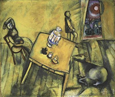 """""""La habitación amarilla"""" Marc Chagall"""