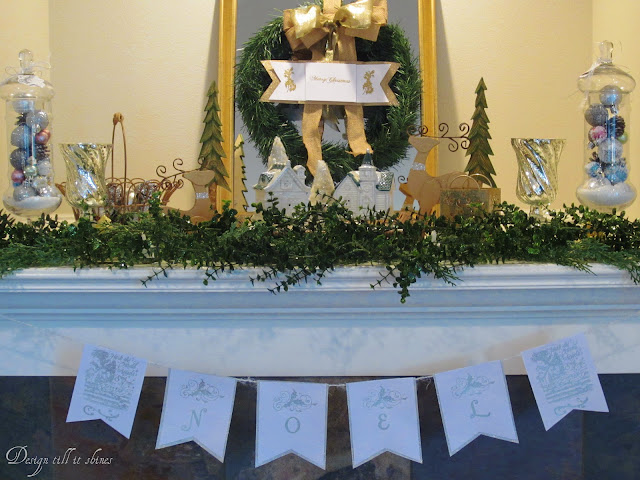 Christmas mantel banner