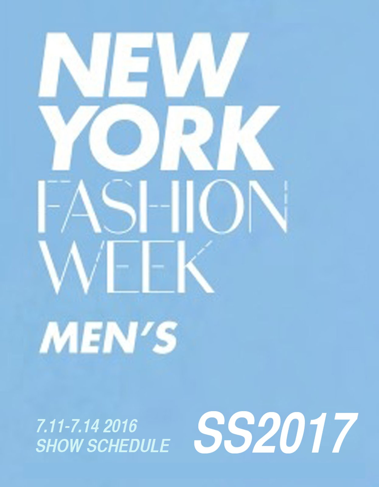 NEW YORK COLLECTIONS: MEN