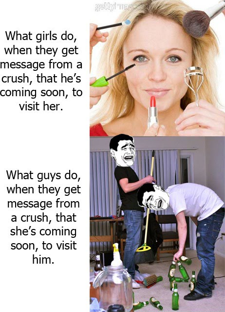 When A Crush Comes To Visit - Girls vs Guys