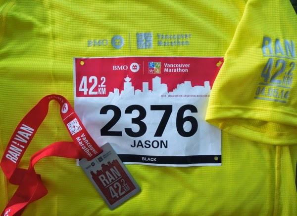 Vancouver Marathon 2014 medal shirt