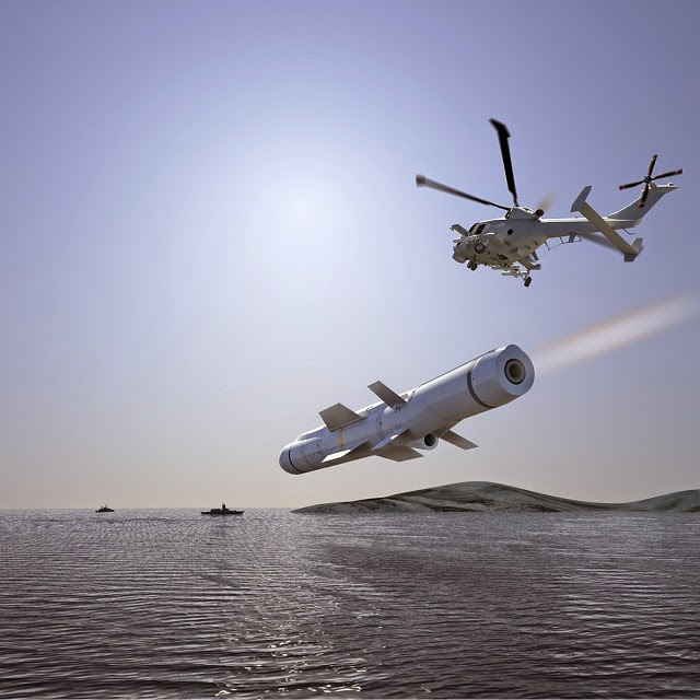 computer generated image of a Sea Venom missile launched by an AW