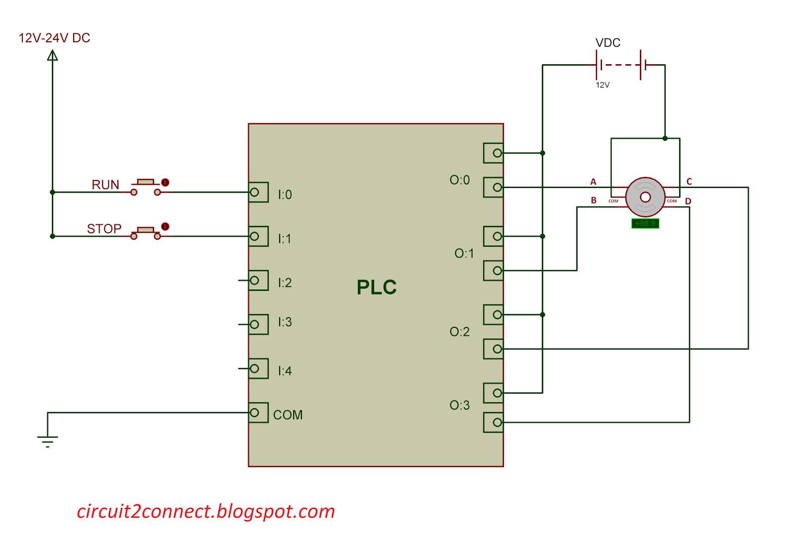 PLC Programming for Stepper Motor - Circuit 2 Connect on