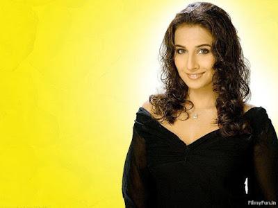 Vidya Balan in black