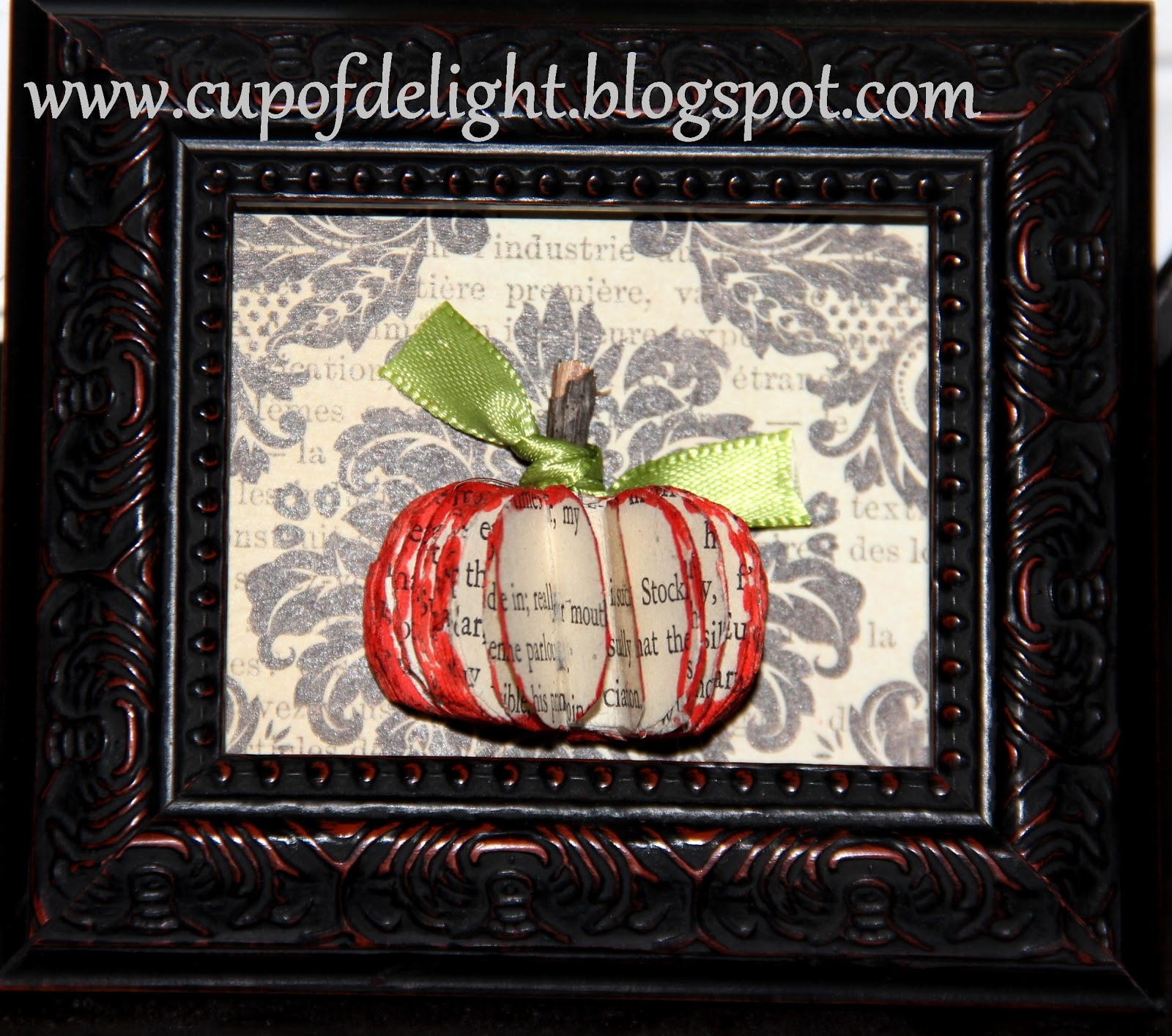 Mini Bookpage Pumpkin Art