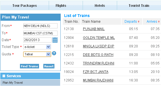 irctc increases tatkal charges