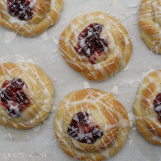 Cherry Cream Cheese Danish by @girlichef