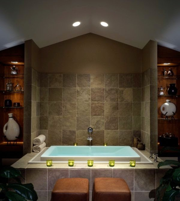 Bathroom LED Lighting Fixtures: Ceiling Lights In Bathroom With Bathtub