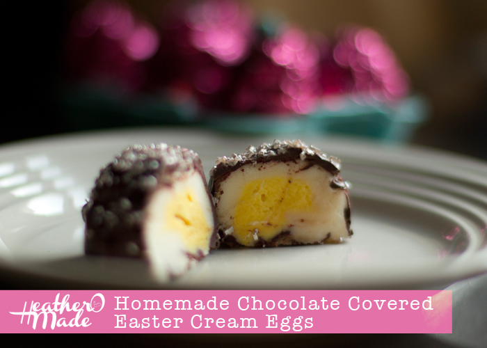 Homemade Chocolate Covered Easter Cream Eggs. cadbury eggs. recipe.