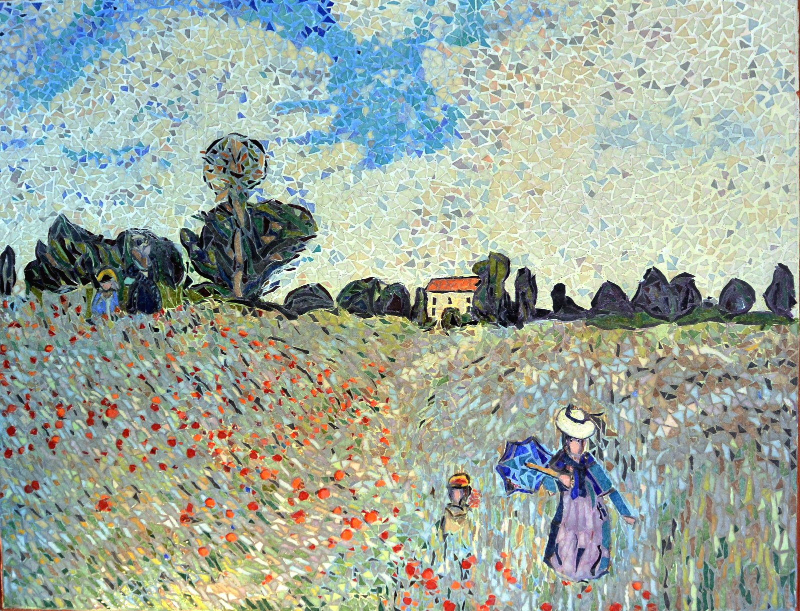 Le champ de coquelicots.Influence,Claude Monet. | BRIARE mosaïques ...